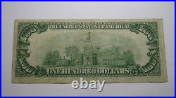 $100 1929 Richmond Virginia VA National Currency Bank Note Bill! Federal Reserve