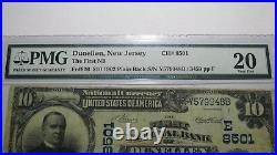 $10 1902 Dunellen New Jersey NJ National Currency Bank Note Bill #8501 VF20 PMG
