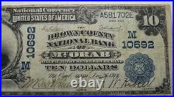 $10 1902 Mt. Orab Ohio OH National Currency Bank Note Bill Ch. #10692 FINE Mount