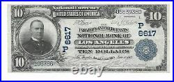 $10 1902 National Currency Farmers & Merchants National Bank of Los Angeles AU