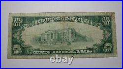$10 1929 Freeport Illinois IL National Currency Bank Note Bill Ch. #2875 FINE+