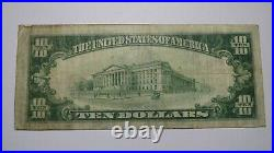 $10 1929 Johnstown Pennsylvania PA National Currency Bank Note Bill Ch. #51 VF