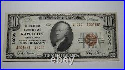 $10 1929 Rapid City South Dakota SD National Currency Bank Note Bill #14099 XF+