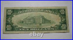 $10 1929 Rockford Illinois IL National Currency Bank Note Bill! Ch. #3952 RARE