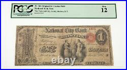 1865 $1 National Bank Note City Bank Boston Ch #609 PCGS Fine 12 Fr #380