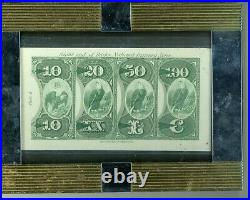1870's $10, $20, $50, $100 Nat'l Currency Eagles Abnc Heath's Counterfeit Detector