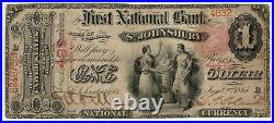 1875 $1 First National Banknote St. Johnsbury Vermont Pmg Choice Fine 15 Net