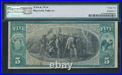 1875 $5 National Currency 1st National Bank of Kenosha, WI Ch. #212 PMG 25 RARE