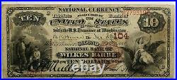 1882 $10 National Currency BB Discovery Wilkes Barre Pennsylvania CH# 104- WW
