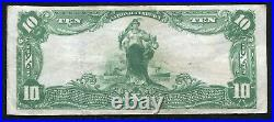 1902 $10 Lincoln National Bank Of Newark, Nj National Currency Ch. #12570 Vf+