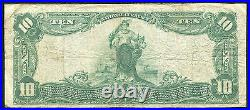 1902 $10 The City National Bank Of Gloversville, Ny National Currency Ch. #9305