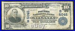 1902 $10 The Fourth National Bank Of Atlanta, Ga National Currency Ch. #5045