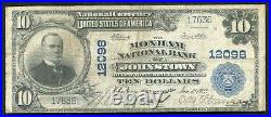 1902 $10 The Moxham Nb Of Johnstown, Pa National Currency Ch. #12098