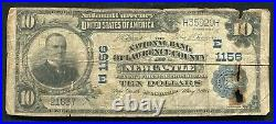 1902 $10 The Nb Of Lawrence County At Newcastle, Pa National Currency Ch #1156