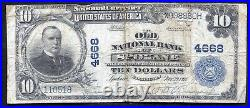 1902 $10 The Old National Bank Of Spokane, Wa National Currency Ch. #4668