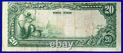1902 $20 Nat'l Currency, Date Back, The Bank of California National Association