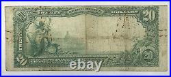 1902 $20 National Currency Second Bank Hoboken New Jersey 3744 Large Note