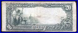 1902 $20 The First National Bank Of Wilkes Barre, Pa National Currency Ch #30