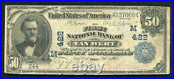 1902 $50 Db The First National Bank Of Van Vert, Oh National Currency Ch. #422