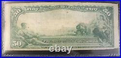 1902 $50 Fifty Dollar National Currency PMG VF20 Fr#681 First NB in Detroit