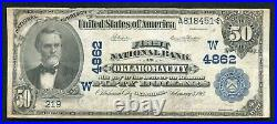 1902 $50 First National Bank In Oklahoma City, Ok National Currency Ch. #4862