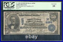 1902 $50 The Merchants National Bank Of Massillon, Oh Ch. #4286 Pcgs Vg-10