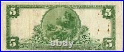 1902 $5 Currency Note 29 First National Bank Of The City Of New York MB988