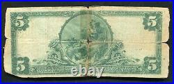 1902 $5 The First National Bank Of St. Joseph, Mo National Currency Ch. #4939