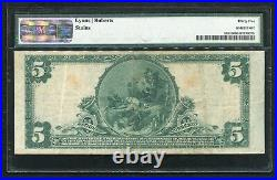 1902 $5 The Home Nb Of Meriden, Ct National Currency Ch. #720 Pmg Very Fine-35