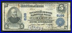 1902 $5 The Manufacturers & Traders National Bank Of Buffalo, Ny Ch. #6186