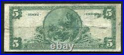 1902 $5 The National Bank Of Baltimore, Maryland National Currency Ch. #1432