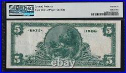 1902 DB $5 national bank note NORTH ADAMS, MA. One of the finest known