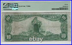 1902 Pb $10 Forbidden Title Galveston Texas National Banknote Currency Pmg Vf 20