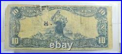 1902 US National Currency $10 Large Note First National Greencastle PA CH#1081