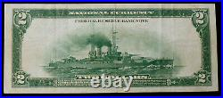 1918 $2 Battleship Fr-748 Solid Xf Boston Fed Note See Pictures