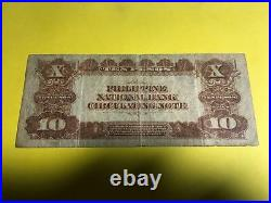 1921 PHILIPPINES NATIONAL BANK TEN PESO STAR NOTE 7826B P-54r