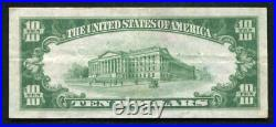 1929 $10 Bank Of America San Francisco, Ca National Currency Ch. #13044 Vf+