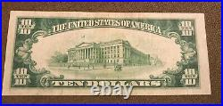 1929 $10 federal reserve bank note CLEVELAND ohio XF