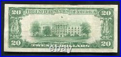 1929 $20 American National Bank Of Ebensburg, Pa National Currency Ch. #6209