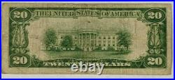 1929 $20 National Currency Note Richmond VA Birthday Note Serial 11/1995
