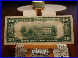 1929 $20 National, The County National Bank Of Punxsutawney Pa, Vf Condition