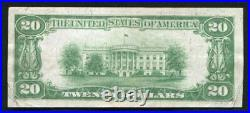 1929 $20 The Anglo & London Paris National Bank Of San Francisco, Ca Ch. #9174