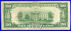 1929 $20 The Colonial-american Nb Of Roanoke, Va National Currency Ch. #11817 Vf