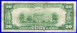 1929 $20 The First National Bank Of Barnard, Ks National Currency Ch. #8396