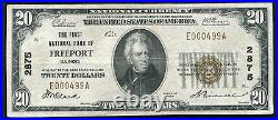 1929 $20 The First National Bank Of Freeport, IL National Currency Ch. #2875