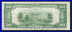 1929 $20 Tyii The Nb Of Commerce In New Orleans, La National Currency Ch. #13689