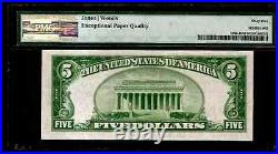 1929 $ 5 The First NB of Wausau Wisconsin Note #MA-BN-173