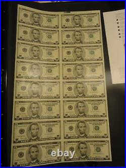 2003 Uncut $5 Star Notes Sold Out from the BEP