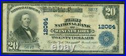 $20.00 National Bank Note, First NB WEST NEW YORK New Jersey, 1902, Fr. #660, VF