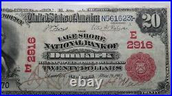 $20 1902 Dunkirk New York NY Red Seal National Currency Bank Note Bill! Ch #2916